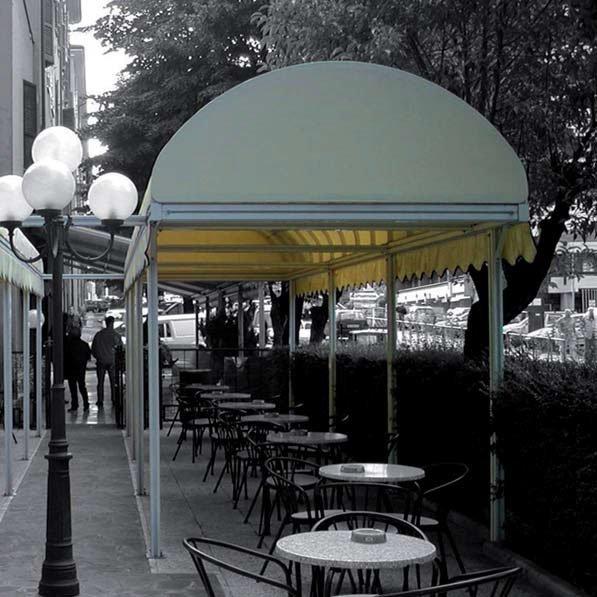 tenda da sole ad arco in alluminio