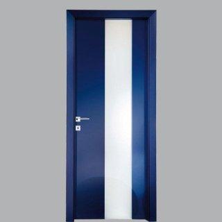 Porta per interno laccata blu