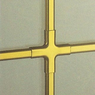 Inglesine interno vetro in ottone