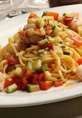 primo piatto spaghetti e verdure