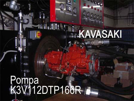 una pompa rossa Kavasaki
