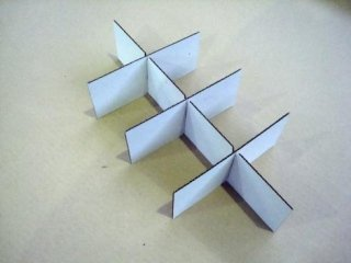 Pezzi di cartone per imballi