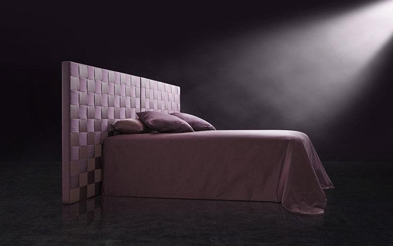pink quilted bed