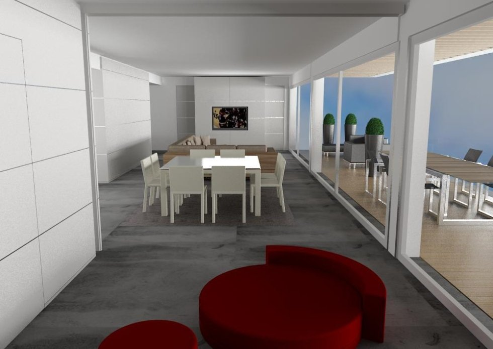 Render attico luxury interior