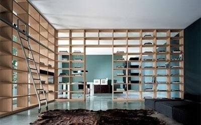 fully-equipped bookcase