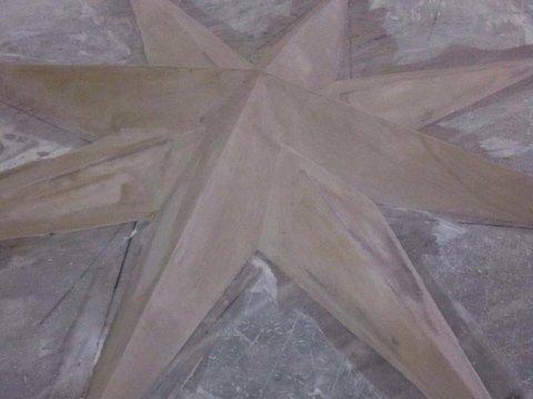 lavoro in cartongesso a forma di stella