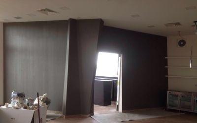 lavori edili in una casa privata