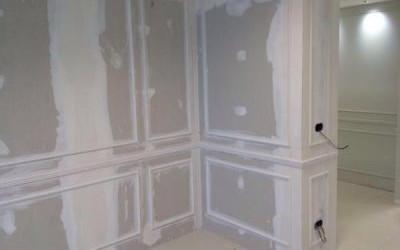 asciugatura vernice su una parete