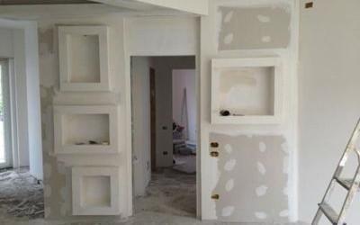 corridoio appartamento in fase di ristrutturazione