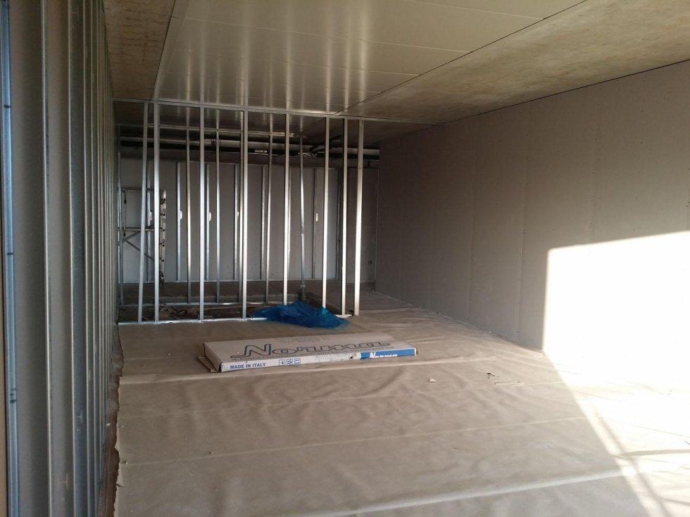 Struttura metallica per sostegno parete in cartongesso,