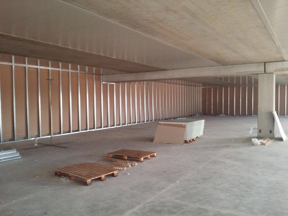 ampio spazio con pareti in cartongesso