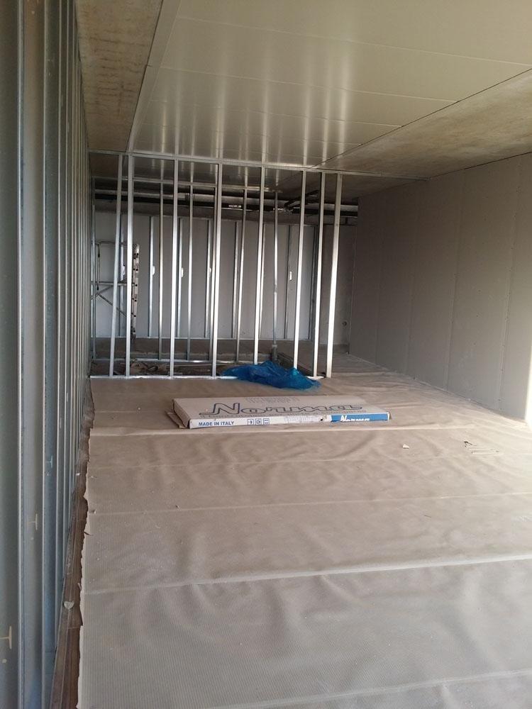 ristrutturazione di un ambiente con pareti divisorie