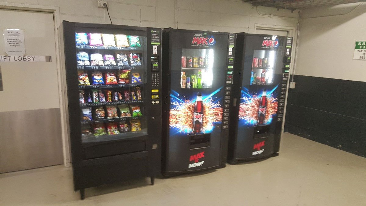View of vending machine