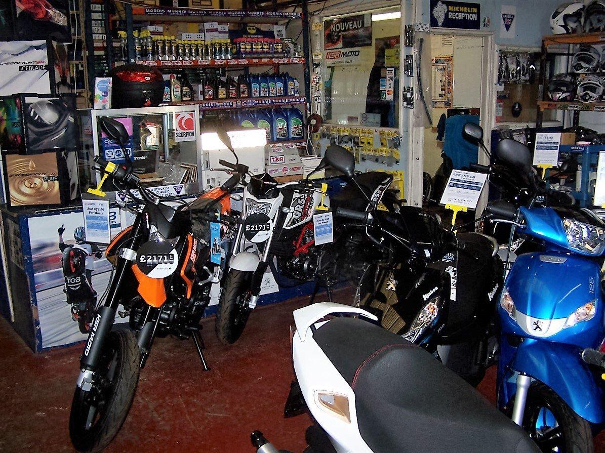 several motorbikes