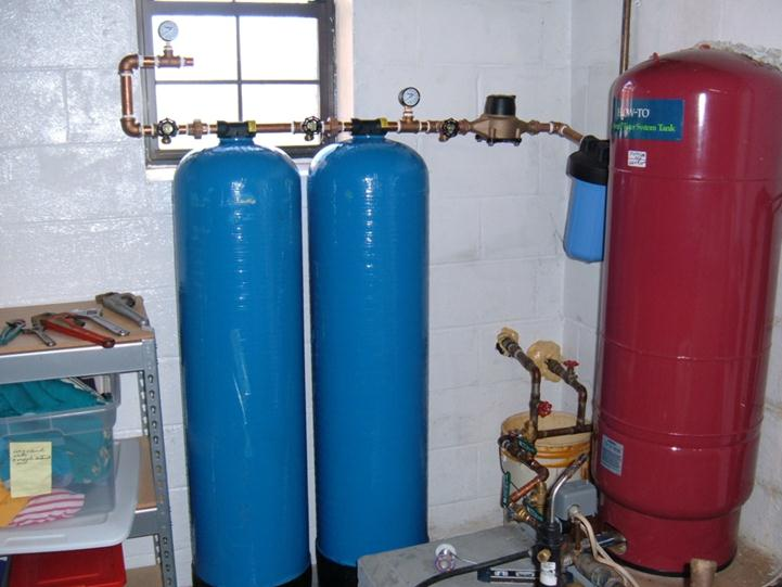 water pump and filter