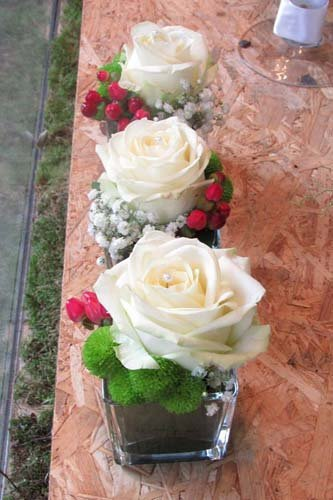 composizioni di rose bianche