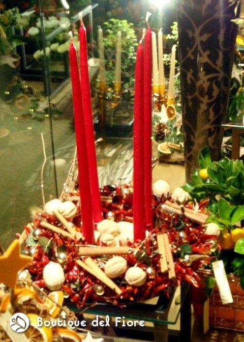 candele con fiori