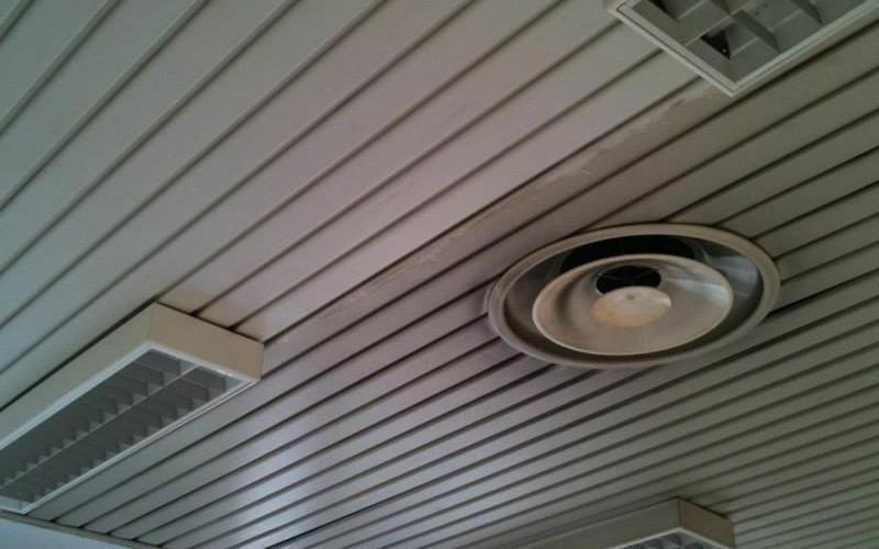 Sanificazione e pulizia soffitti