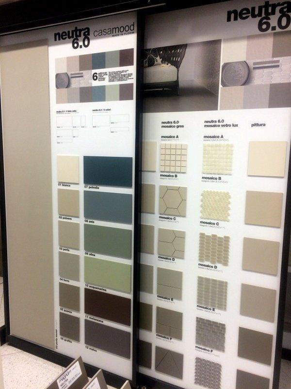 campioni per rivestimenti di dverso colore