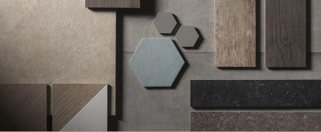 dettaglio mosaico di diverse piastrelle