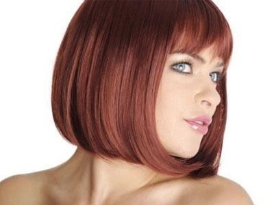 Parrucca caschetto rosso