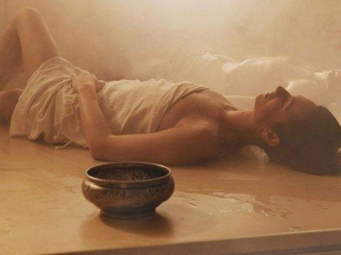 bagno caldo di vapore