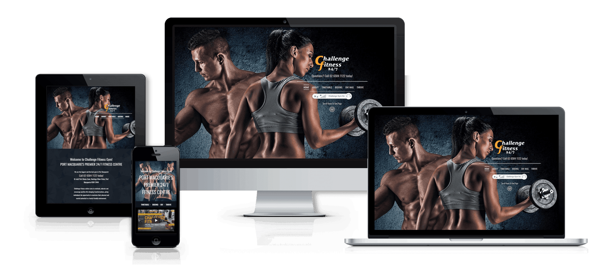 Edgezone Media client Challenge Fitness website image.