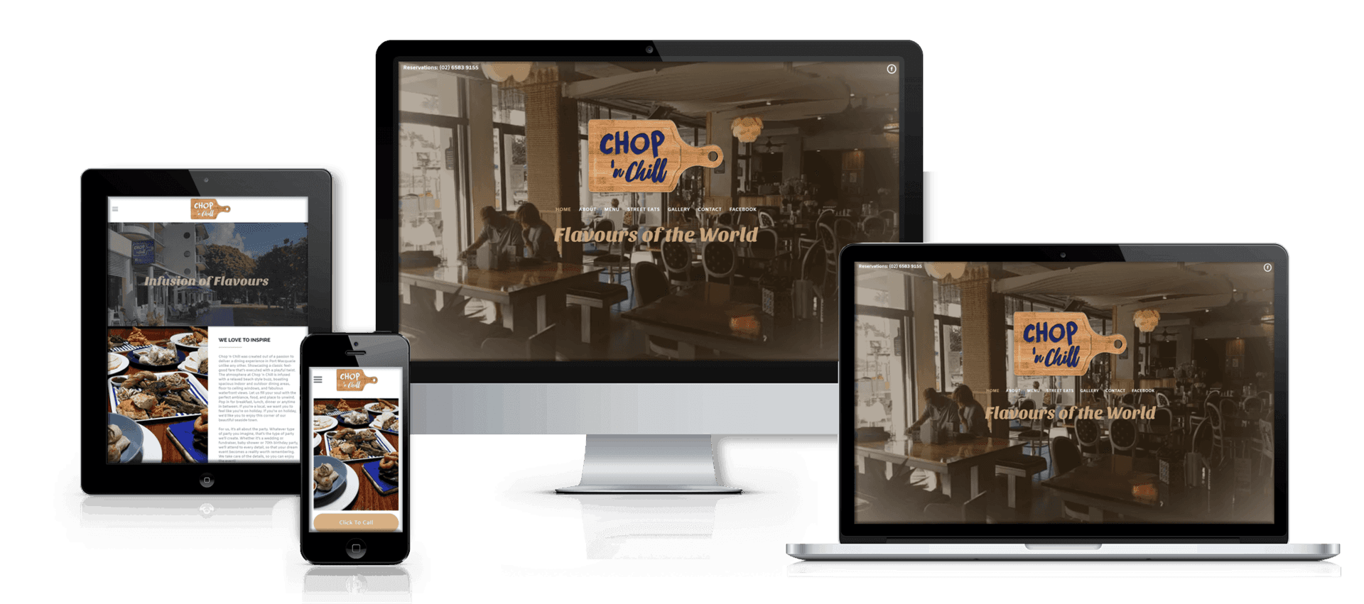 Edgezone Media client Chop And Chill website image.