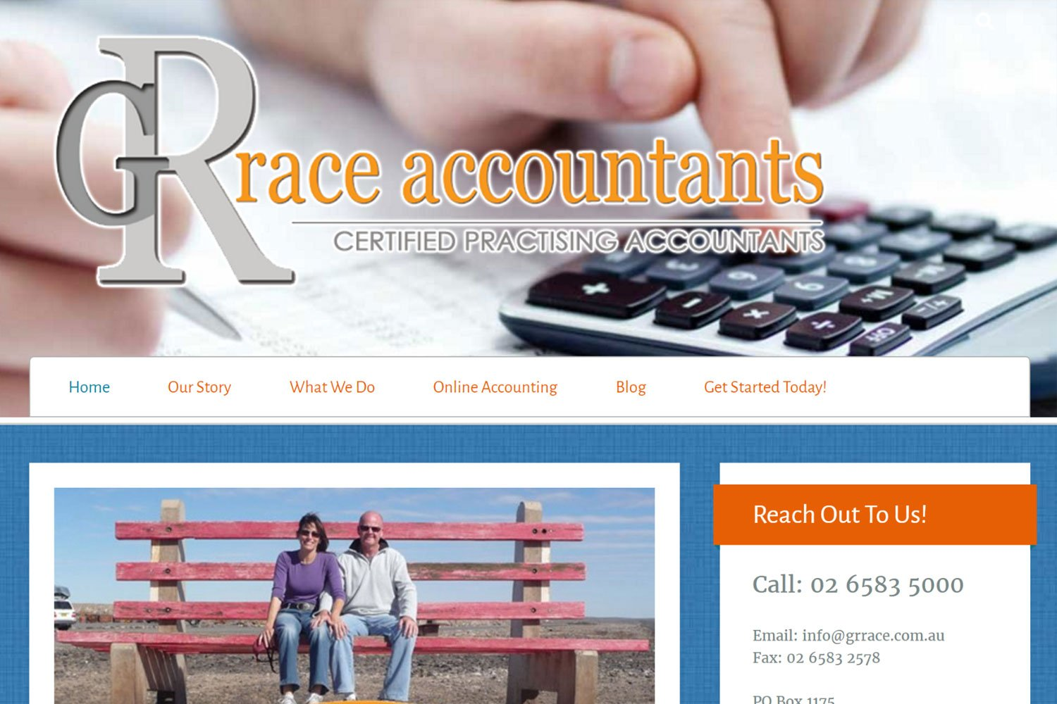 Edgezone Media's Client - GrRace Accountants - www.grrace.com.au