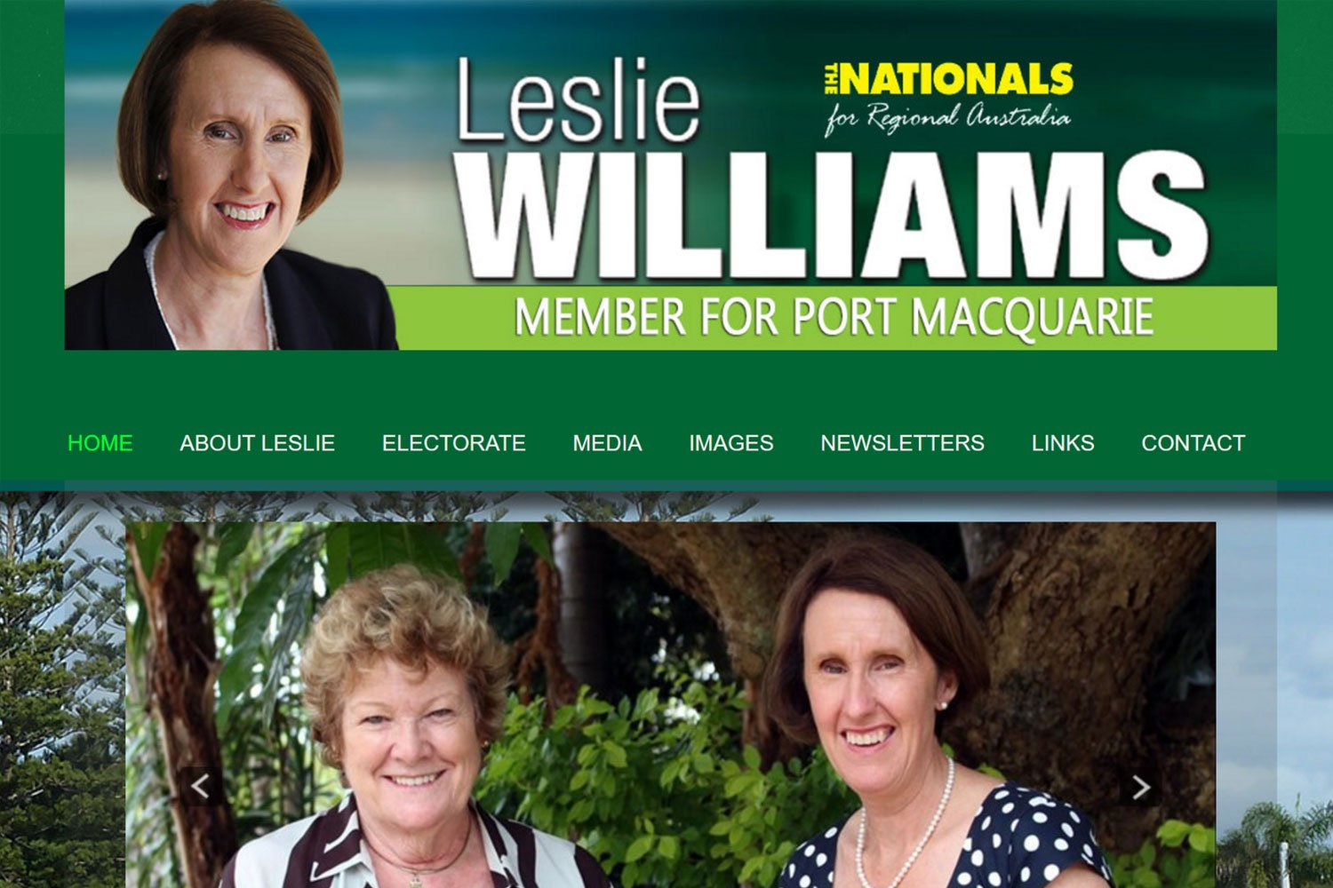 Edgezone Media's Client - Leslie Williams PM - www.LeslieWilliams.com.au