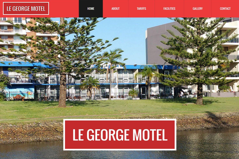 Edgezone Media's Client Le George Motel - www.LeGeorge.com.au