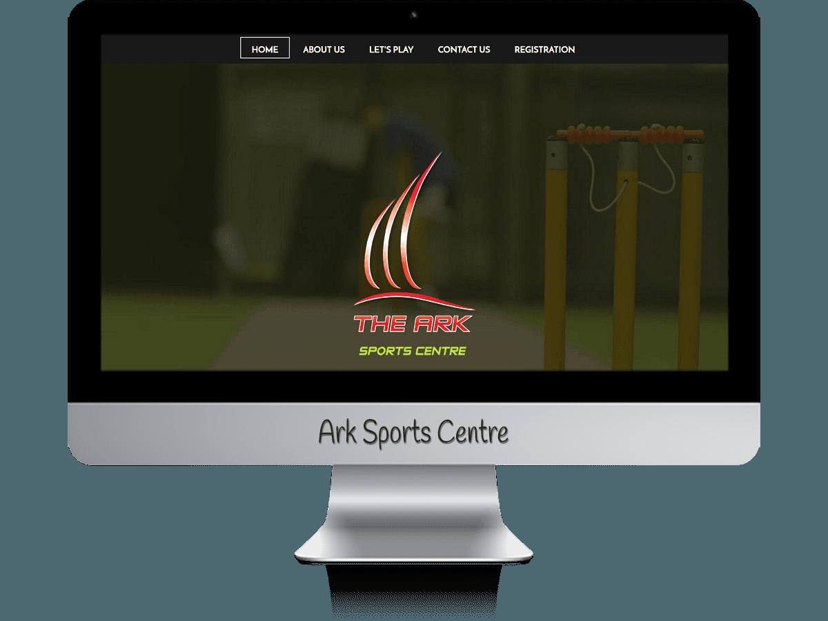 Edgezone Media's Client - Ark Sport Centre & Inflatable World website design.