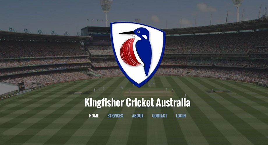 Edgezone Media's Client - Kingfisher Cricket Australia - www.KingfisherCricketAustralia.com
