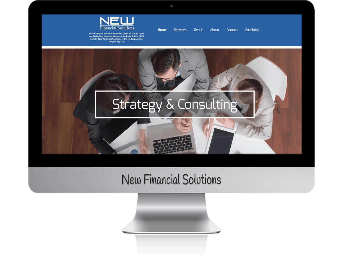 Edgezone Media's Client - New Financial Solutions website design.