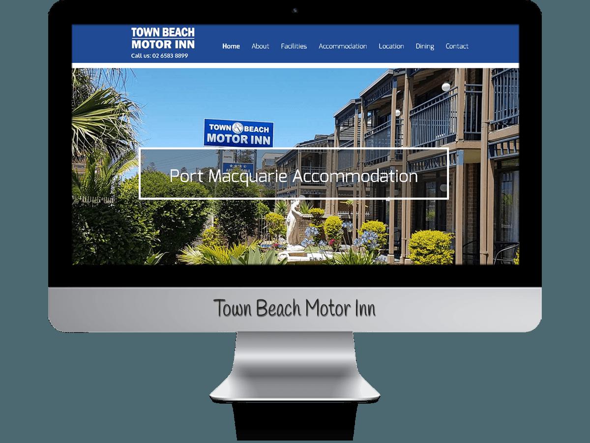 Edgezone Media's Client - Town Beach Motor Inn website design.