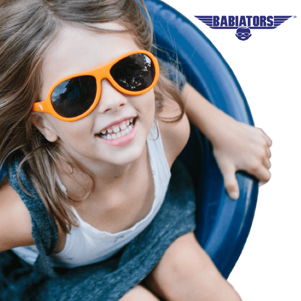 Babiators virtually indestructible sunglasses for kids available at Precision Vision Edmond