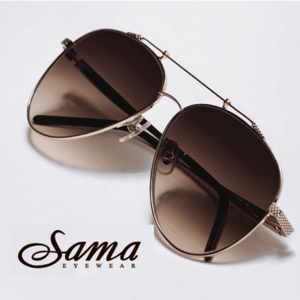 Sunglasses from Sama Eyewear.  You'll find them at Precision Vision Edmond.