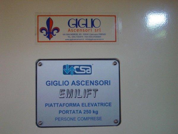 Piattaforma elevatrice Giglio Ascensori