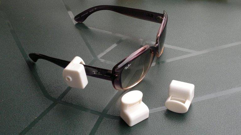 Dispositivo antitaccheggio nei occhiali