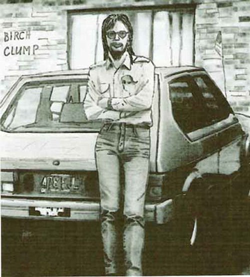 Sarg's 1st recorded visit to Birch Clump, age 27, August 1978. Fiat Strata car, outside village restaurant