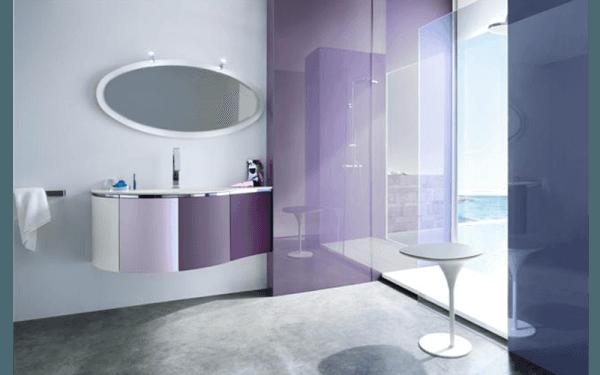 Meubles de salle de bains en bois laqué