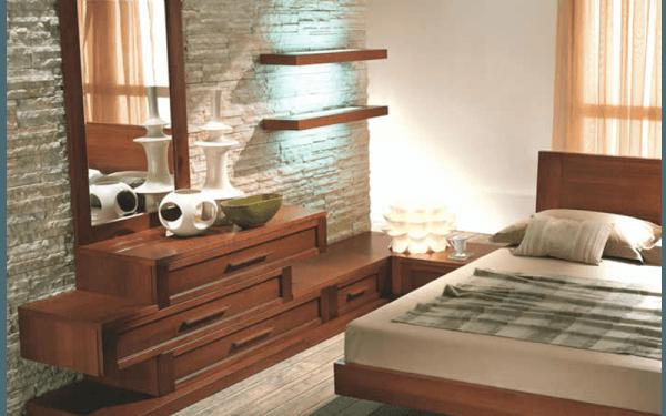 Mobilier chambre à coucher en bois
