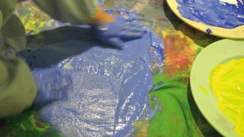 Laboratori creativi, tempera, spazio per bambini