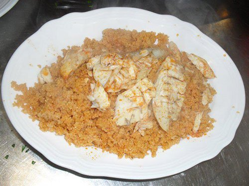 Cous cous con pesce da zuppa ed un fritto misto a Trapani
