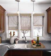 Window coverings in kitchen home