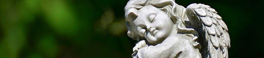 Baby cherub by our monumental masonry in Sydney