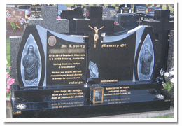 Grave with some of our memorial accessories in Sydney