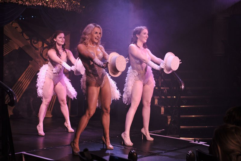 Showgirls on stage