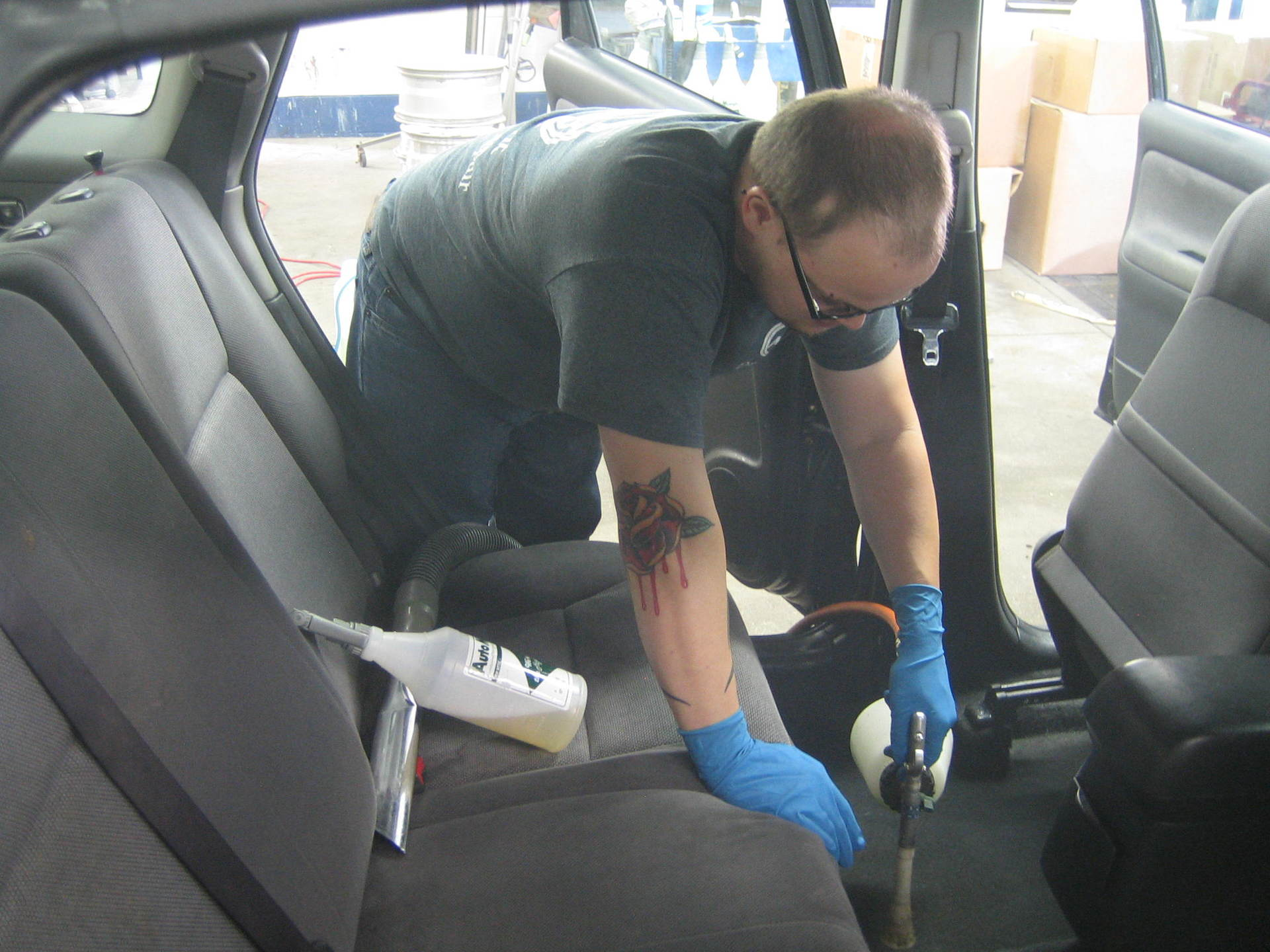 Modern car interior cleaning detailing in Lincoln, NE