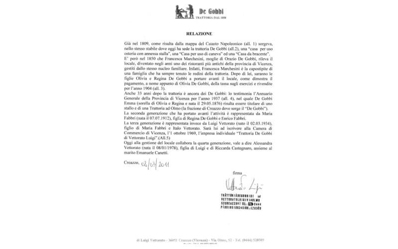 documento storico de gobbi